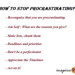 how to stop procrastinating, organizing priorities and deadlines, stress and deadlines, how to meet deadlines