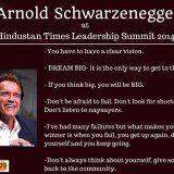 leadership, summit,hindustan times leadership summit, leadership summit arnold, Arnold schwarzenegger, Arnold schwarzenegger quotes