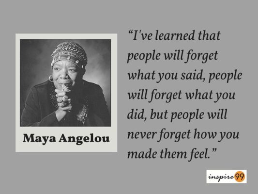 Maya Angelou People Will for Get What You